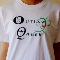 Outlaw Queen OUAT T-shirt. Graphic Tee. Fandom Shirt. Unisex Sizing.