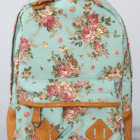 *Accessories Boutique The Flower Printed Backpack in Mint : Karmaloop.com - Global Concrete Culture