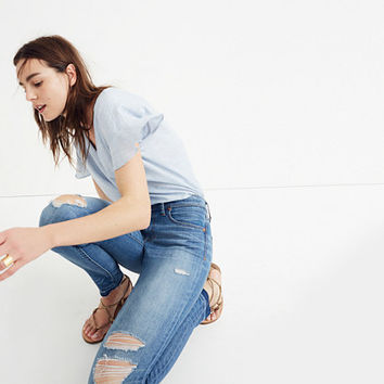 """9"""" High-Rise Skinny Jeans in Winifred Wash: Drop-Hem Edition"""
