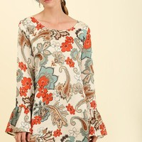 Dreamy Floral Bell Sleeve Dress