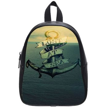 Lost At Sea Anchor School Backpack Large