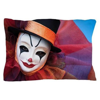 CLOWNS AND THE MASK PILLOW CASE