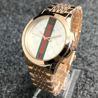 GUCCI New fashion dial stripe more letter couple watch