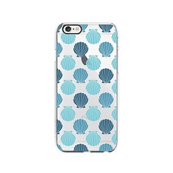 Sea Shell Pattern Transparent Silicone Plastic Phone Case for iphone 7 _ LOKIshop (iphone 7)