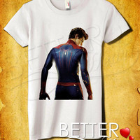 Andrew Garfield As Spider Man Back Pose Women T-Shirt - Amazing SpiderMan T-Shirt - Marvel Design For Women T-Shirt (All Color Available)