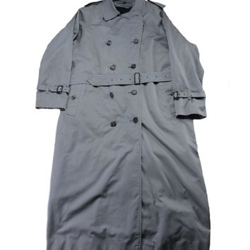 Burberrys Gray Trench Coat Removable Wool Liner Mens Size Large