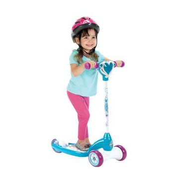 Toddlers, Kids 3 Wheel Wheeled Disney Frozen Kick Scooter with Lights and Sounds