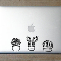 Cactus Sticker, Succulent Decal, Cactus Decals, Hipster Sticker, Preppy Decal, Preppy Sticker, Plant Decal, Macbook, Tumbler, Car