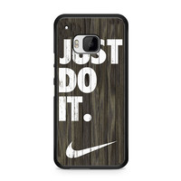 Nike Just Do It Wood Colored Dark Wood Wooden HTC One | M9 case