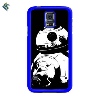Star Wars The Force Awakens Droid Bb Eight Black And White Samsung Galaxy S5 Galaxy S5 Mini Case