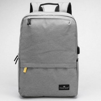 University College Backpack USB Charging Grey   Students Schoolbag 15.6 Inch Laptop  British Style Smart  Young Large SpaceAT_63_4