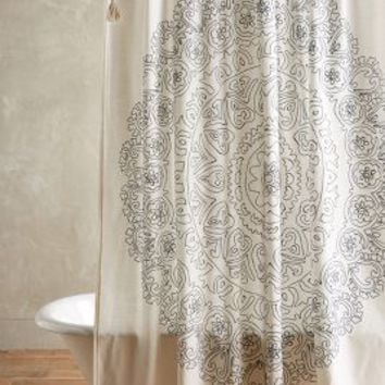 Eastern Emblem Shower Curtain by Anthropologie