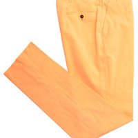 Andrea Campagna Orange Cotton Dress Pant