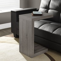 Dark Taupe Reclaimed-Look Hollow-Core Accent Table