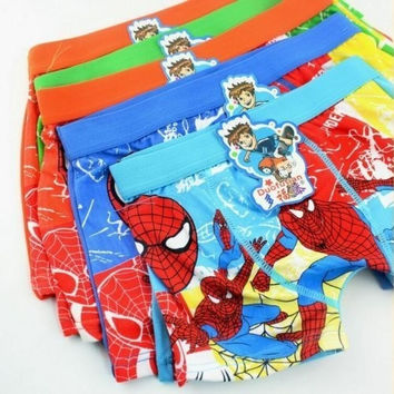 4pcs boy underwear boxer cotton cartoon children panties shorts kids accessories = 1930309316