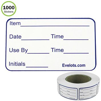 Evelots Food Labels-Freezer/Fridge-Large-Stick to Any Surface-1000 Sticker Roll
