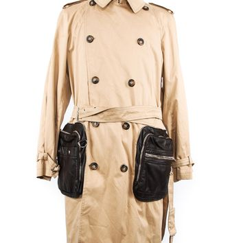Allegri Leather Pockets Trench Coat