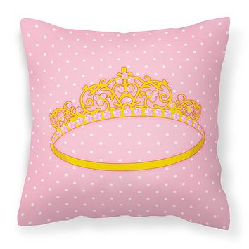 Ballerina Tiara Fabric Decorative Pillow BB5155PW1414