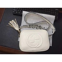 GUCCI classic double G tassel shoulder diagonal package