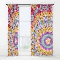 over the rainbow Window Curtains by Sylvia Cook Photography