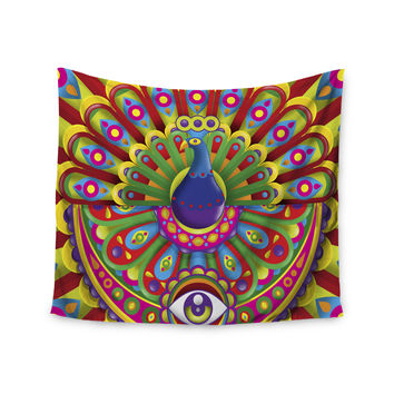 "Roberlan ""Peacolor"" Rainbow Peacock Wall Tapestry"