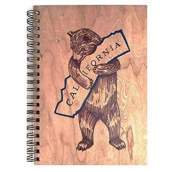Wood Notebook Cali Bear Large