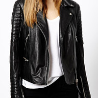 Black Faux Leather Slim Jacket
