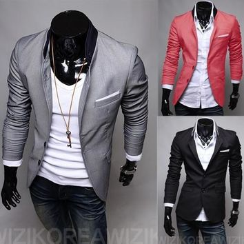 Men's Fashion 2 Button Suit Jacket