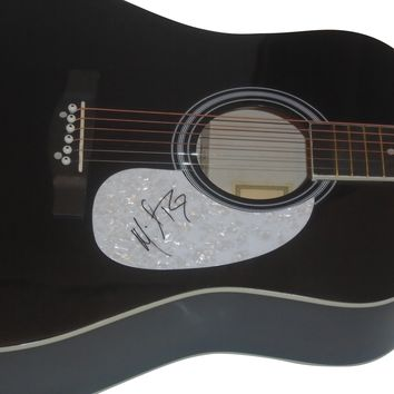 Michael Ray Autographed Full Size 41 Inch Country Music Acoustic Guitar, Proof Photo