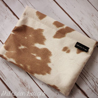 Faux Cowhide - Faux Cowhide Clutch - Cowhide Makeup Bag