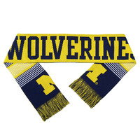 University of Michigan Wolverines Forever Collectibles Unisex Reversible Split Logo Scarf