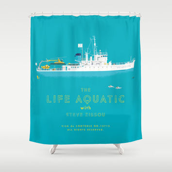 The Life Aquatic With Steve Zissou Shower From Society6