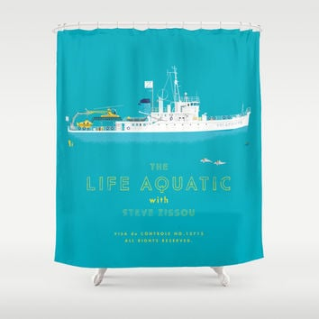 The Life Aquatic with Steve Zissou Shower Curtain by Steeeeee