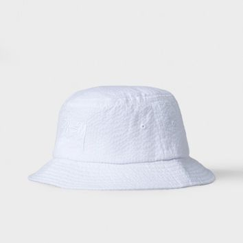 Stock Seersucker Bucket Hat