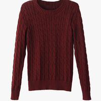 Cable Knit Soft Cropped Sweater