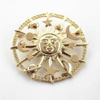 ENZE Free shipping The Milky Way the sun moon stars brooch fashion new alloy Personality men and women accessories sets