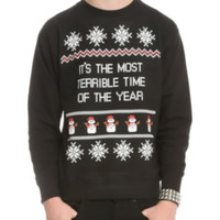 Terrible X-Mas Sweater Crewneck Sweatshirt