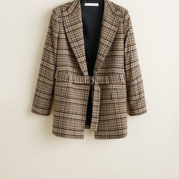 Structured wool blazer - Women | MANGO United Kingdom