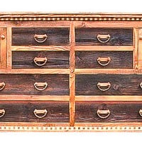 Rustic Red Fir Reclaimed Barnwood Dresser Country Roads II Collections