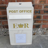 Wooden Wedding Post Box personalised with your own details