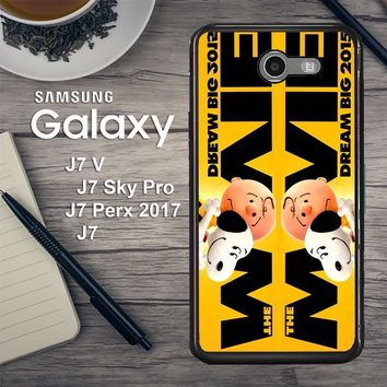 Snoopy And Charlie Brown The Peanuts 2015 Movie V 2104 Samsung Galaxy J7 V , J7 Sky Pro, J7 Perx 2017 SM J727 Case