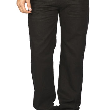 Guys Straight Leg Jeans - Black - Dylan