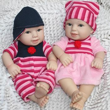 Silicone Baby Dolls 12 Inches miniature baby soft vinyl real touch