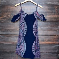 YIREH mita dress in indigo