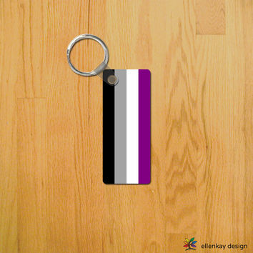 Asexual pride Key Chain