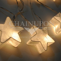 WHITE FANCY STAR PAPER LANTERN STRING PARTY,FAIRY,DECOR,GIFT,KID BEDROOM LIGHTS