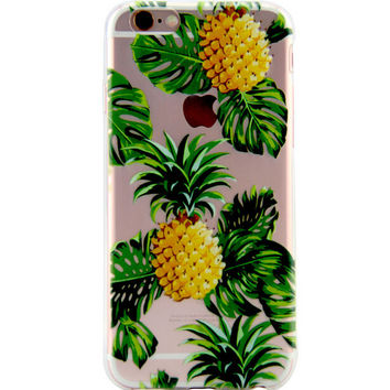 Giant Pineapple Printed iPhone 7 7Plus & iPhone se 5s 6 6 Plus Case Cover +Gift Box-86