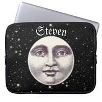 Victorian man in the moon laptop sleeve