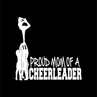 Proud Mom of a Cheerleader Decal Stunt Scorpion Cheerleading Laptop Cheer Window Vinyl Car Sticker