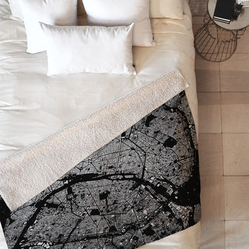 CityFabric Inc Paris Black Fleece Throw Blanket
